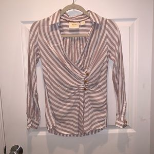 Anthropologie long sleeve button down top
